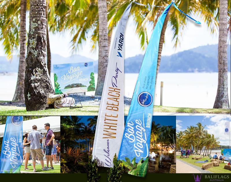 Custom Bali Flags for Property Congress Event Hamilton Island